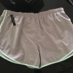 Women's Nike Running Shorts 2X Lined Grey